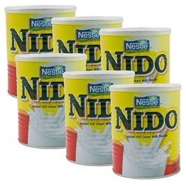 6 x NIDO -Vollmilchpulver -Original Nestle - 6 x 400g (2400g) - asiafoodland Vorteilspaket - 1