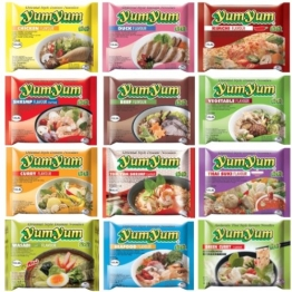 60 YumYum Nudelsuppen, 9 Sorten Yum Yum FREIE WAHL (60 Yum Yum verschiedene Sorten) - 1