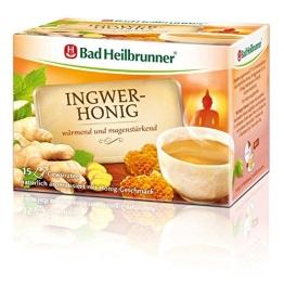 Bad Heilbrunner Ingwer-Honig Tee, 15er Filterbeutel, 6er Pack (6 x 30 g) - 1