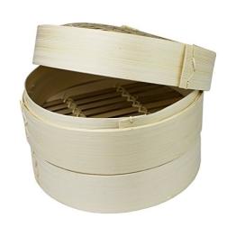 Bambusdämpfer 3-Teilig 25 cm Bamboo Steamer Set - 1