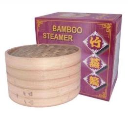 Bambusdämpfer 3-teiliges Set 30,5cm STABILER Bamboo Steamer - 1