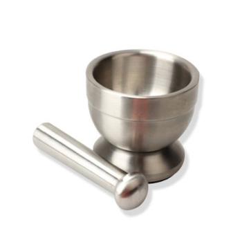 Bekith Kitchen Mörser mit Stößel, Gewürzmörser,Edelstahl, 10*10*9cm - 2