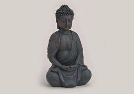 Buddha Figur sitzend betend 25cm braun , Feng Shui - 1