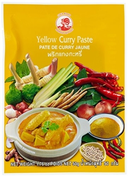 Cock Currypaste, gelb, 6er Pack (6 x 50 g Packung) - 1