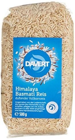 Davert Himalaya Basmati Reis braun, 4er Pack (4 x 500 g) - Bio - 1