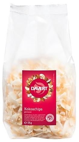 Davert Kokoschips geröstet, 6er Pack (6 x 175 g) - Bio - 1