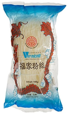 Diamond Glasnudeln, lang, Lungkou Vermicelli, 18er Pack (18 x 100g Packung) - 1