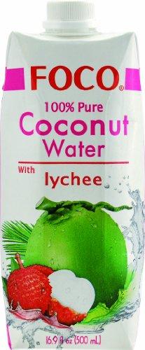 Foco Kokosnusswasser, Lychee, 12er Pack (12 x 500 ml) - 1
