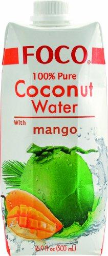 Foco Kokosnusswasser, Mango, 12er Pack (12 x 500 ml) - 1