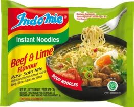 Indomie Instantnudeln, Beef und Lime, 40er Pack (40 x 75 g) - 1