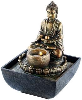 infactory Beleuchteter Zimmerbrunnen mit Buddha - 1