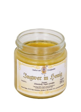 Ingwer in Honig 250g - Honig mit gemahlenem Ingwer, ohne Zusätze (von Imkerei Nordheide) - 1