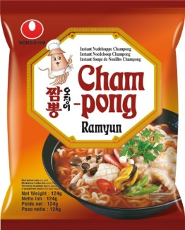 NONG SHIM Instantnudeln, Seafood, Cham Pong Ramen, 20er Pack (20 x 124 g Packung) - 1