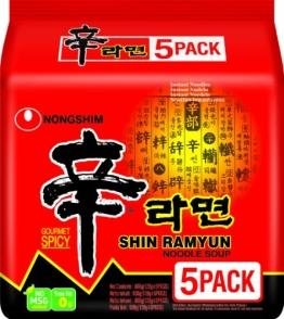 Nong Shim Instantnudeln, Shin Ramyun, 8er Pack (8 x 5 Beutel à 120g) - 1
