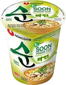 Nong Shim Instantnudeln, Veggie Ramyun, mild, 12er Pack (12 x 67 g) - 1