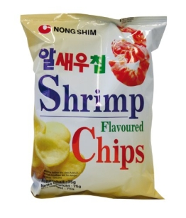 NONG SHIM Shrimp Chips, 20er Pack (20 x 75 g Packung) - 1