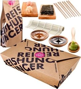 Reishunger Sushi Box - Orignal Japanische Zutaten bester Qualität - Für bis zu 4 Personen - Perfekt auch als Geschenk - 1