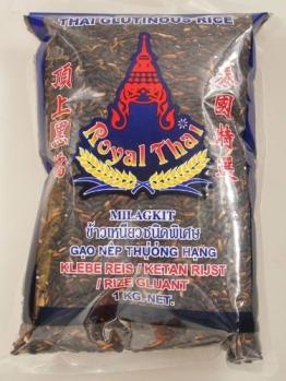 Royal Thai Klebereis schwarz, 1kg - 1