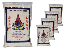 Royal Thai - Klebreis Sticky Rice - 5er Pack (5 x 1kg) - Original Thai - 1