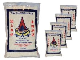 Royal Thai - Klebreis Sticky Rice - 5er Pack (5 x 1kg) - Original Thai - 1