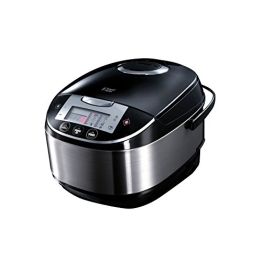 Russell Hobbs 21850-56 Cook@Home Multicooker (900 Watt, 5 l, 11 Kochprogramme, Anti-Kondensations-Deckel, Warmhaltefunktion) silber - 1