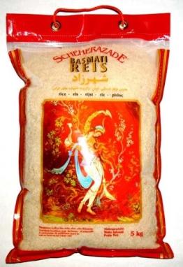 Scheherazade Basmatireis, Qualität A++, 1er Pack (1 x 5 kg Packung) - 1