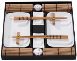 Tischgeschirr Japan Sushi Set, braun f. 2 Personen, Natur - 1