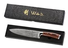 Wakoli 1DM-CHE-EDB Damastmesser Chefmesser, Japanischer Damaststahl VG-10, Edib - 1