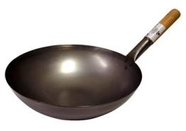 WOK-PFANNE Rund Wokpfanne Gastronomie RUNDER Boden 35cm Nur für Gasherde - 1