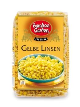 Bamboo Garden Gelbe Linsen, 7er Pack (7 x 400 g) - 1