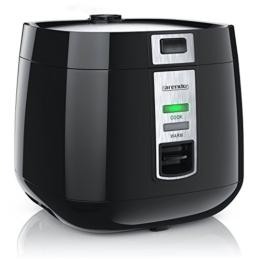Arendo - Reiskocher | Dampfgarer / Dampfgarerfunktion | 1,4l Kapazität | einfache Bedienung | Überhitzungsschutz + Thermosicherung | automatische Warmhaltefunktion | 540W | wärmeisolierendes Doppelwanddesign -