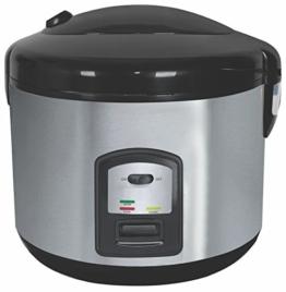 Reiskocher 1,5 Liter Multikocher Dampfgarer Edelstahl Schnellkochtopf Reis Kochtopf -