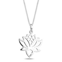 Elli Damen-Kette mit Anhänger Lotusblume 925 Sterling Silber 0110613111_45 -