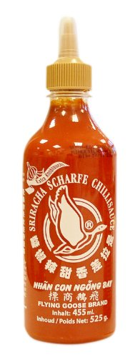 Flying Goose Chilisauce, Sriracha, Knoblauch, 2er Pack (2 x 455 ml Packung) -