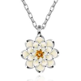 murtoo Lotus Blume Sterling Silber Halskette mit Anhänger S925Sterling Silber für Frauen Perfekte Geschenk -