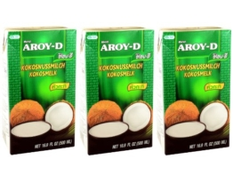 Aroy-D - Kokosmilch - 3er Pack (3 x 500ml) -