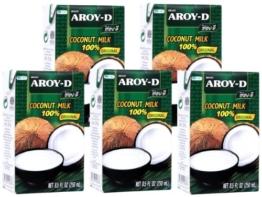 Aroy-D - Kokosmilch - 5er Pack (5 x 250ml) -